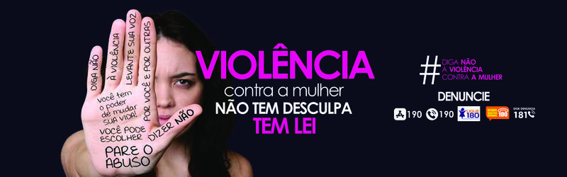 Banner Combate ao abuso Mulher